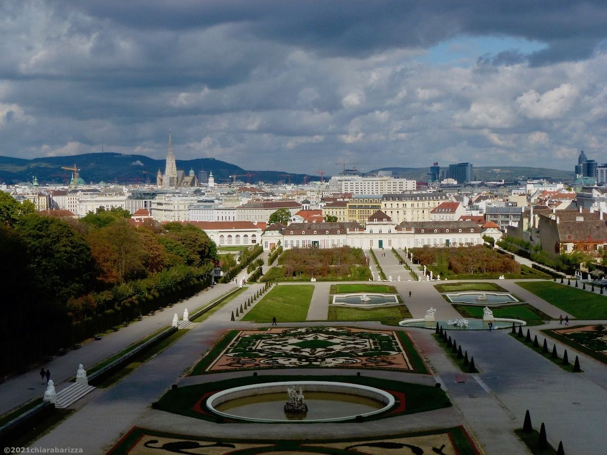 panorama di vienna dal belvedere superiore