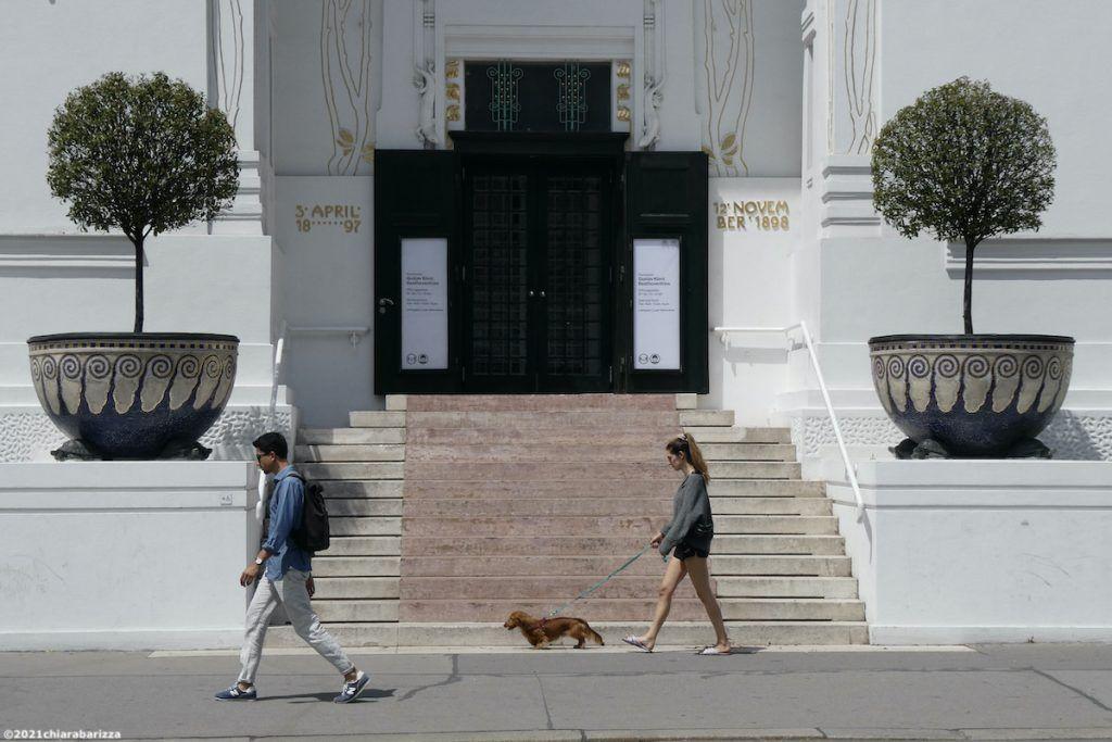 ingresso della palazzina della secessione viennese
